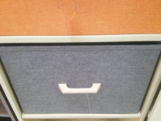 引き出し付きのカラーボックス