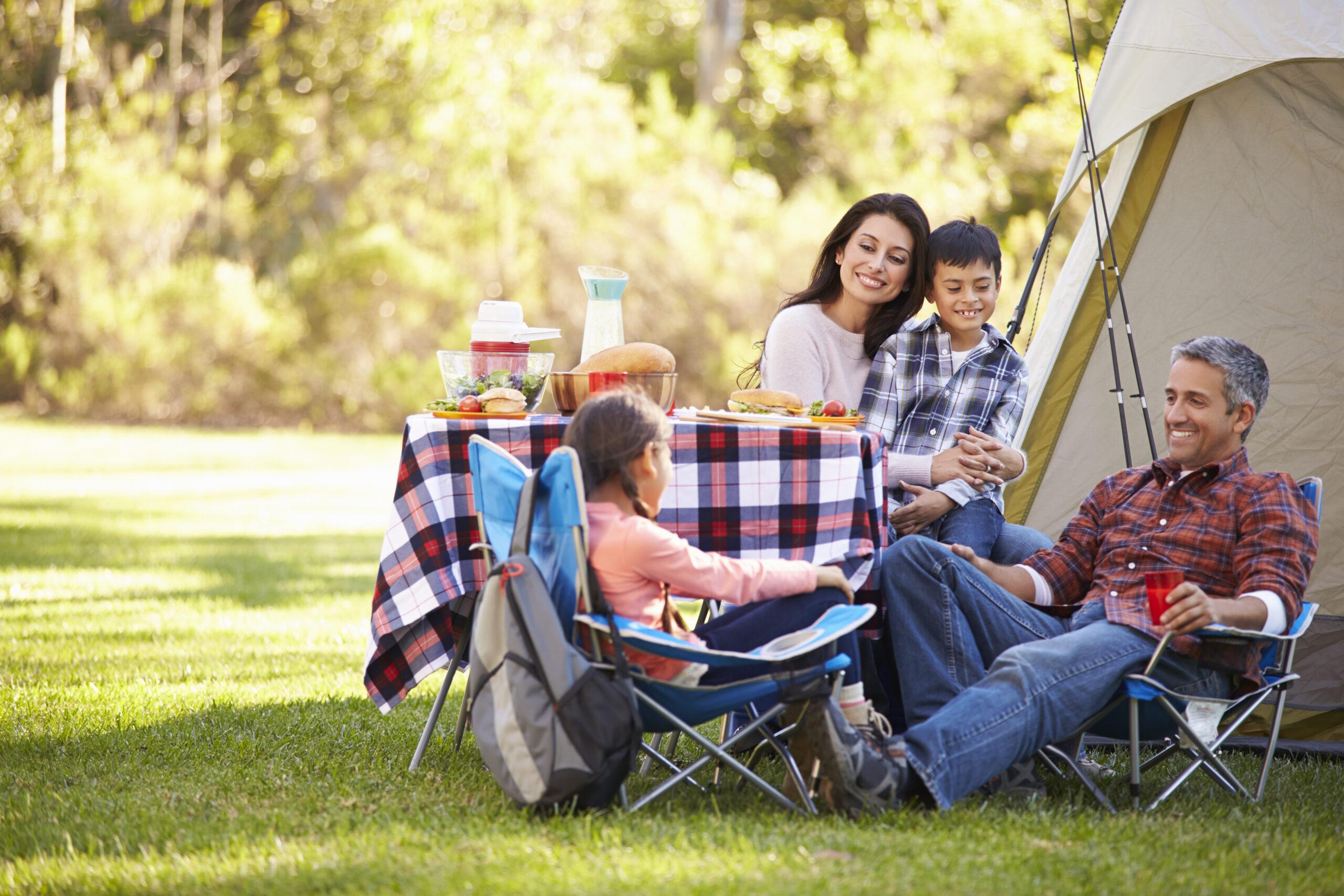 家族とのキャンプ