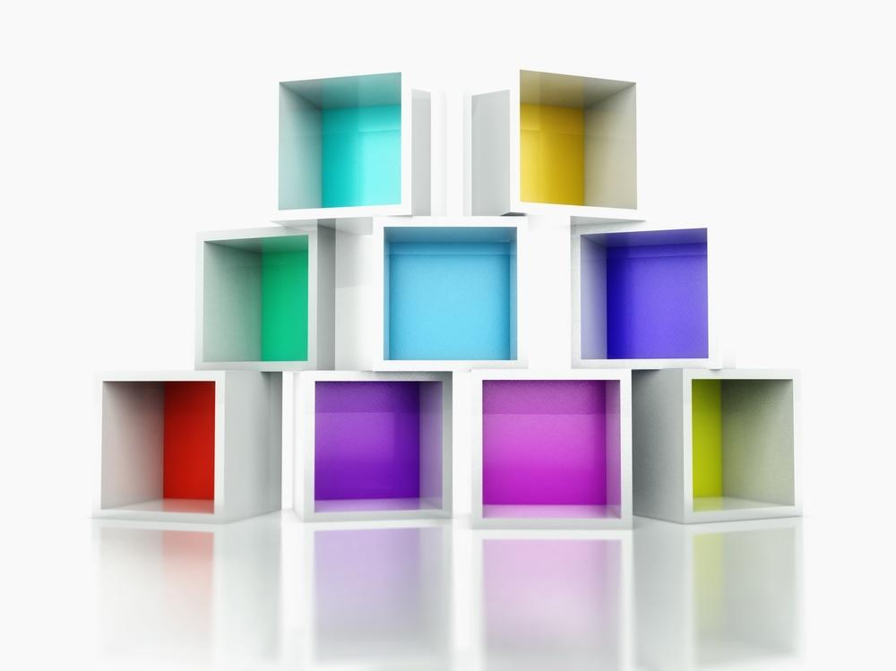 色鮮やかなボックス