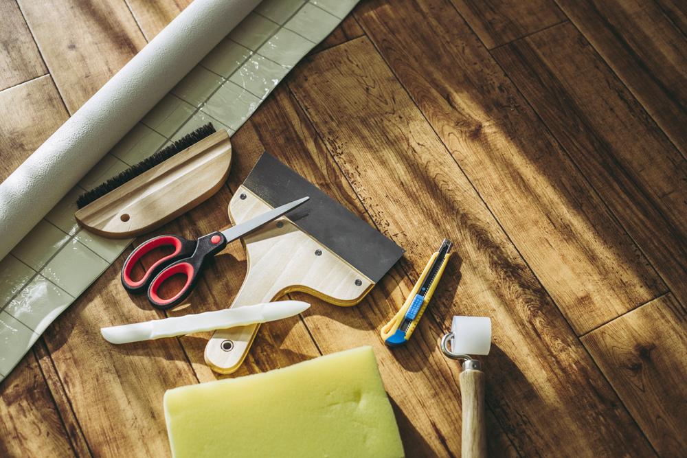 壁紙張り替え用の道具