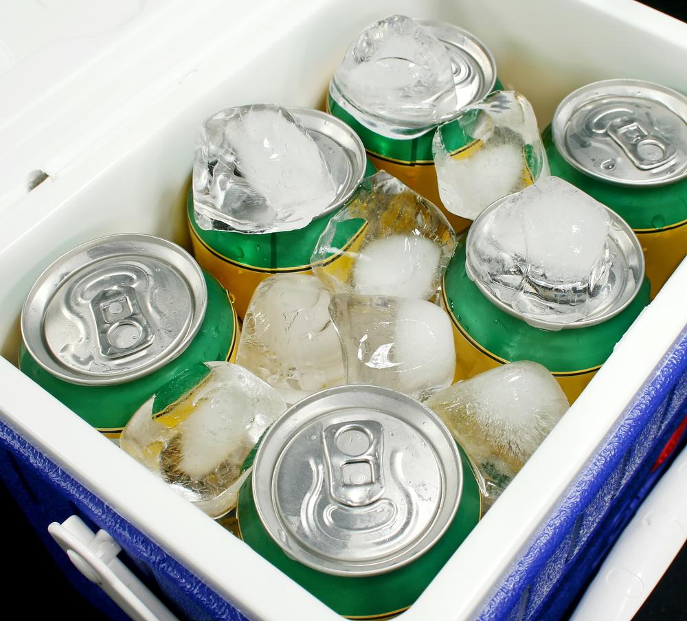 冷蔵庫に入ったビール
