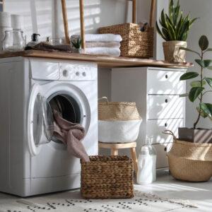 【おしゃれに変身】洗濯機まわりの収納アイディア!ズボラでも綺麗が保てる方法も