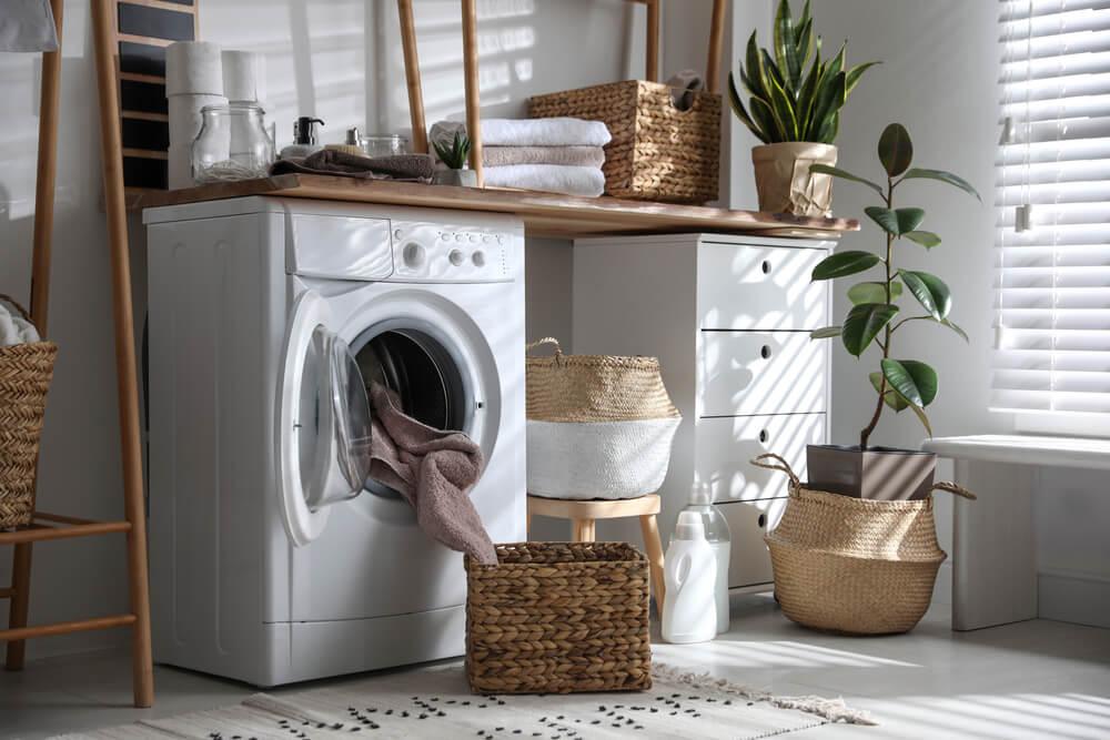 洗濯機と収納
