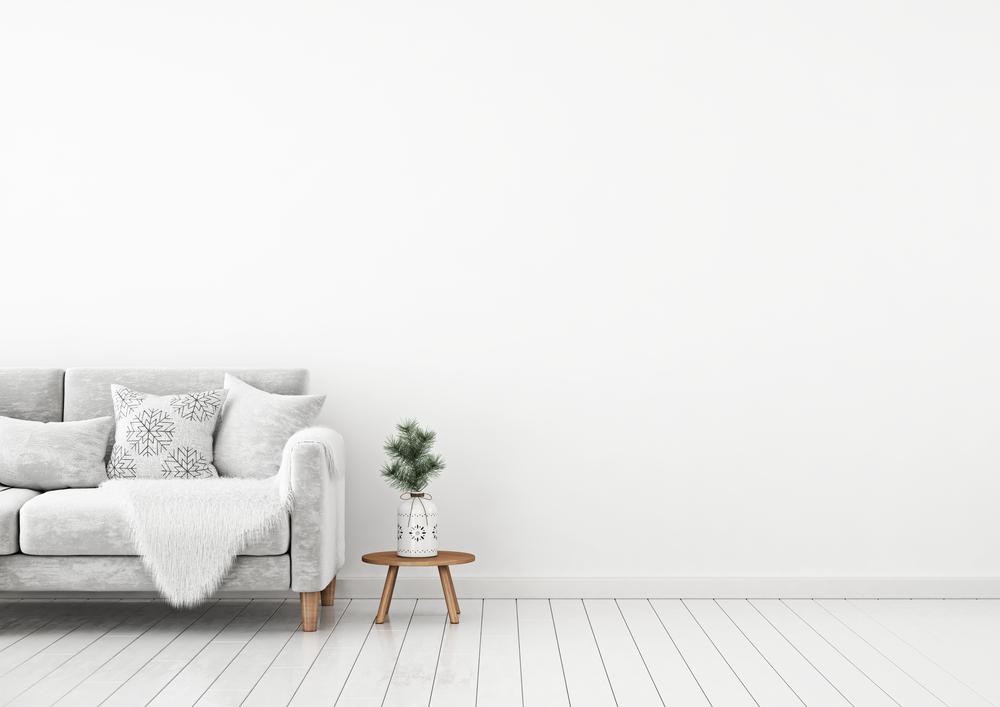 白を基調としたリビングルーム