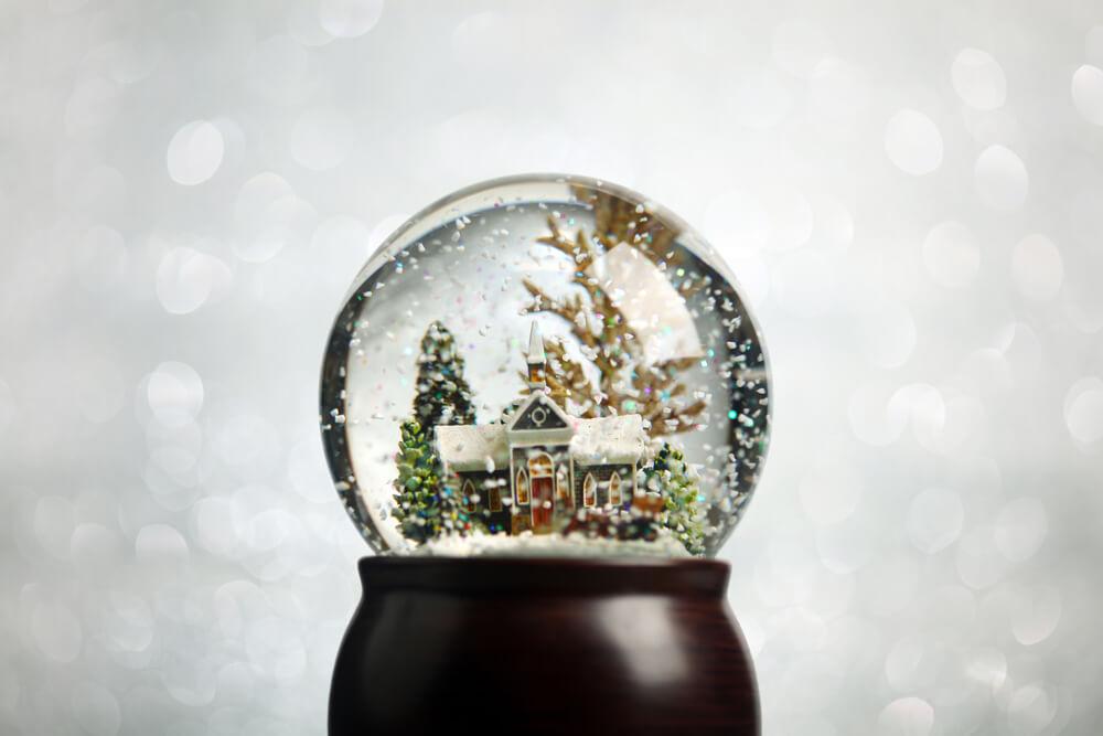 クリスマス用のスノードーム