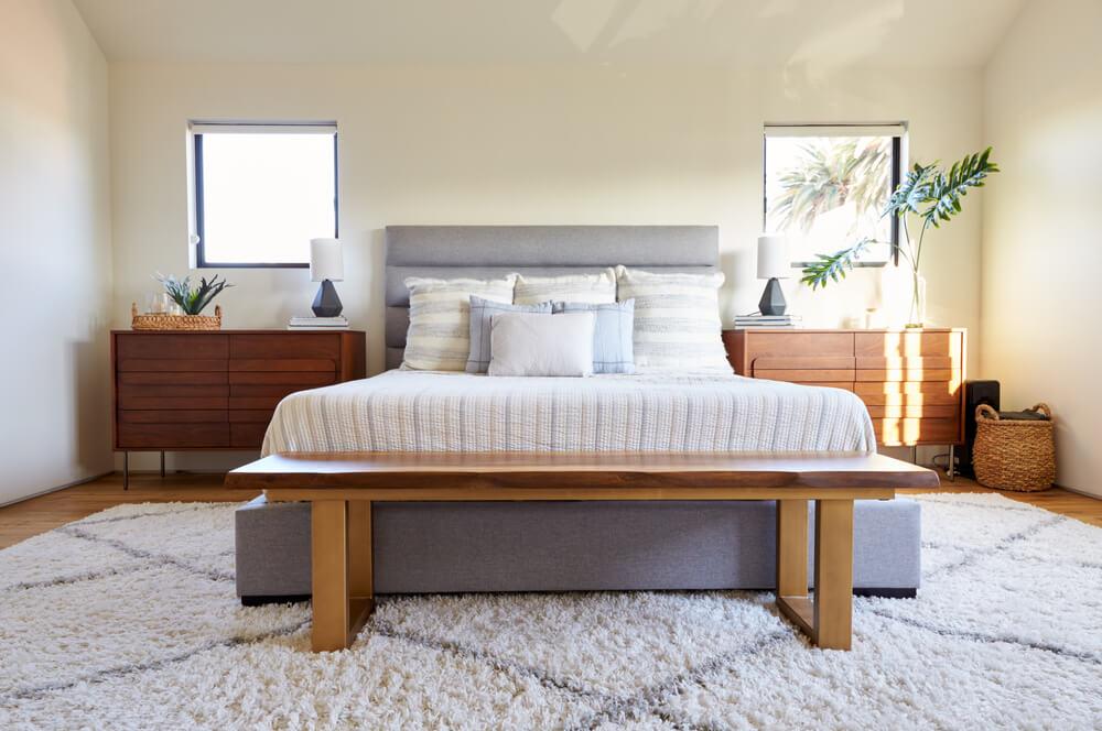 ダブルベッドがある部屋