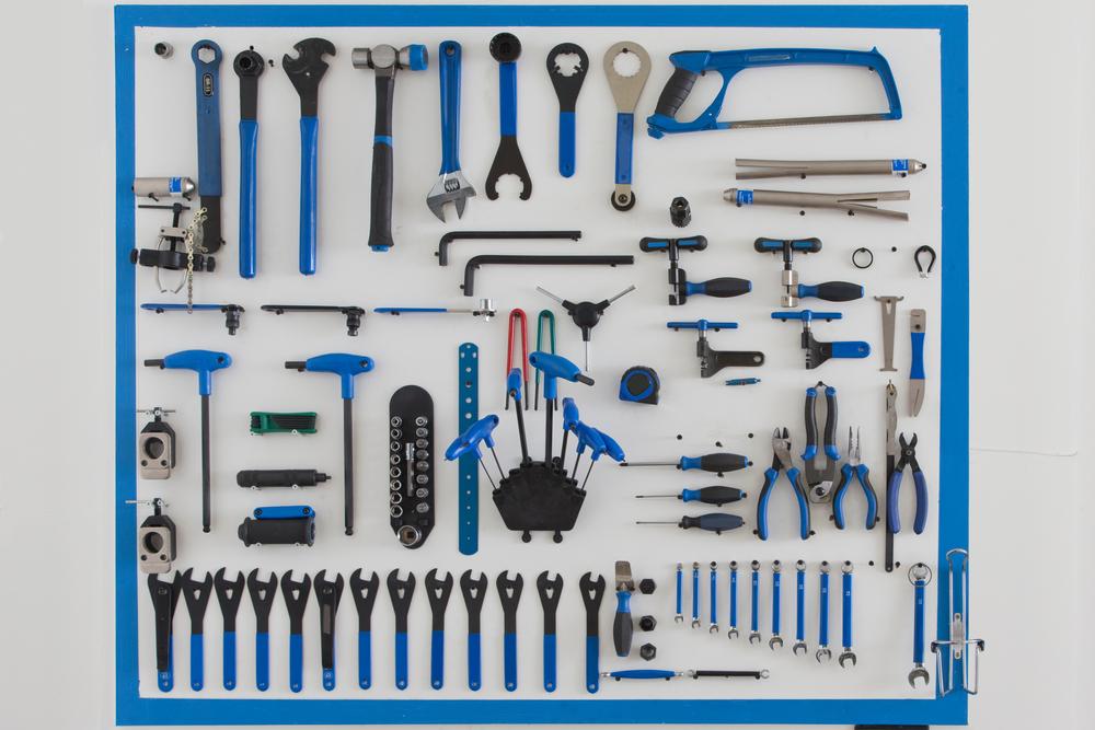 工具の壁面ディスレイ収納