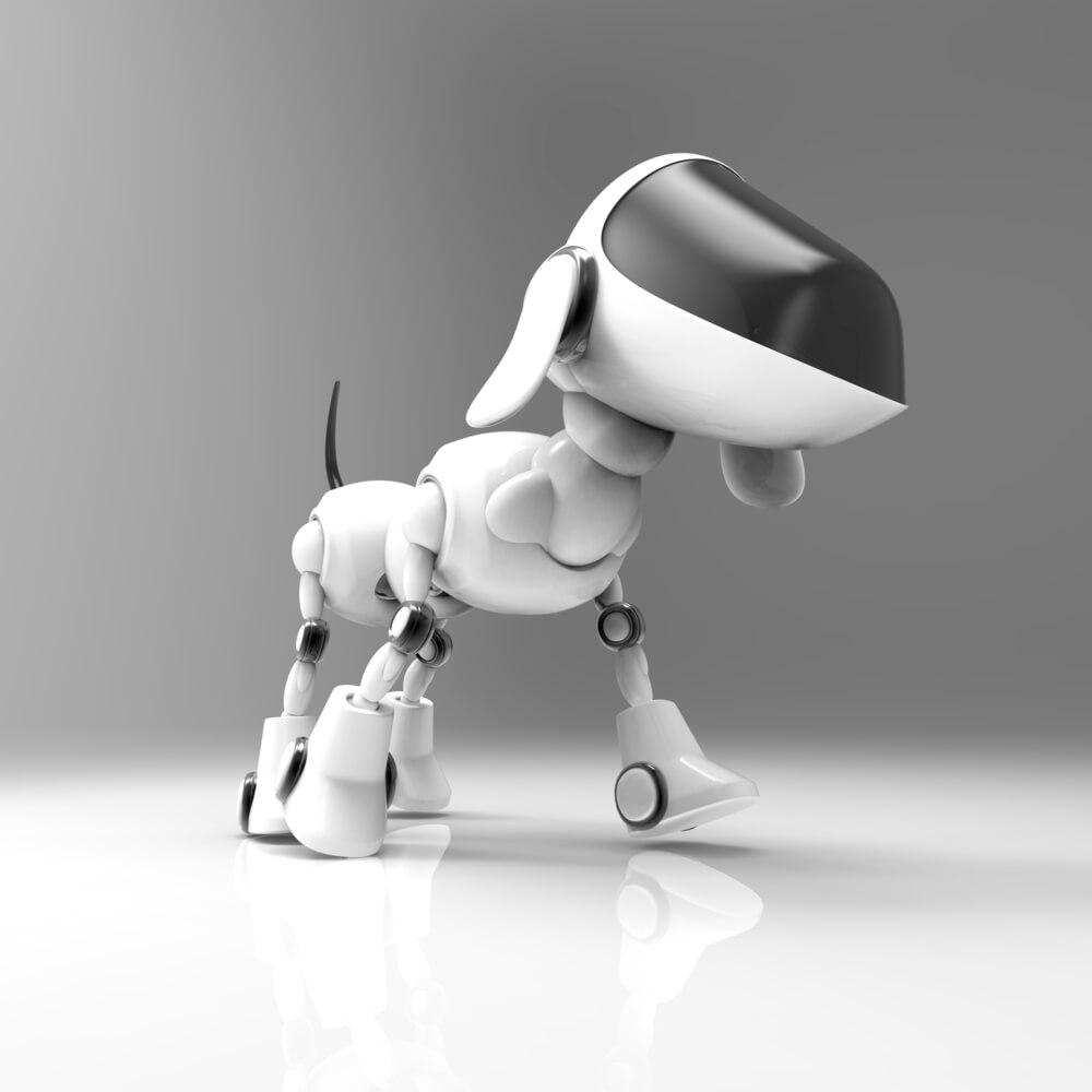 立っているペットロボット