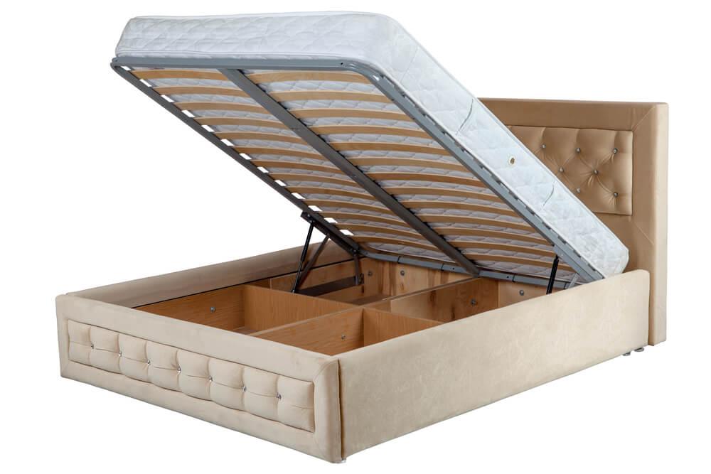 跳ね上げ式収納付きベッド