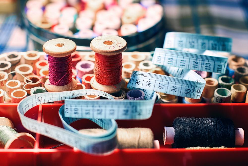 裁縫道具が入った箱