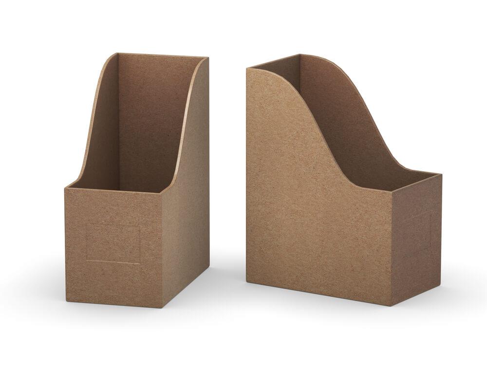 ブラウンのファイルボックス