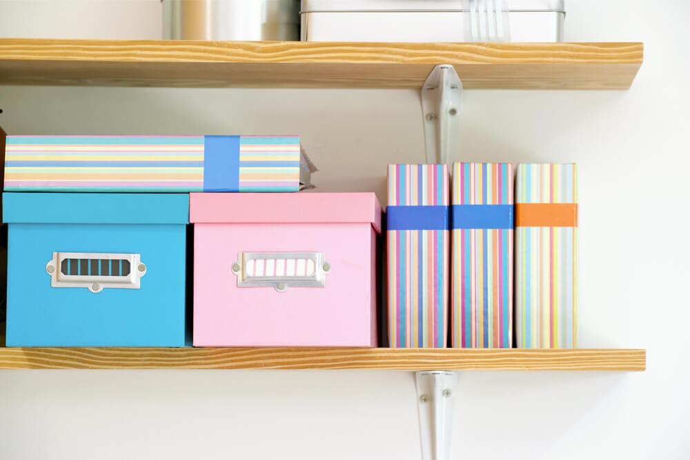 収納グッズに利用できるファイルボックス