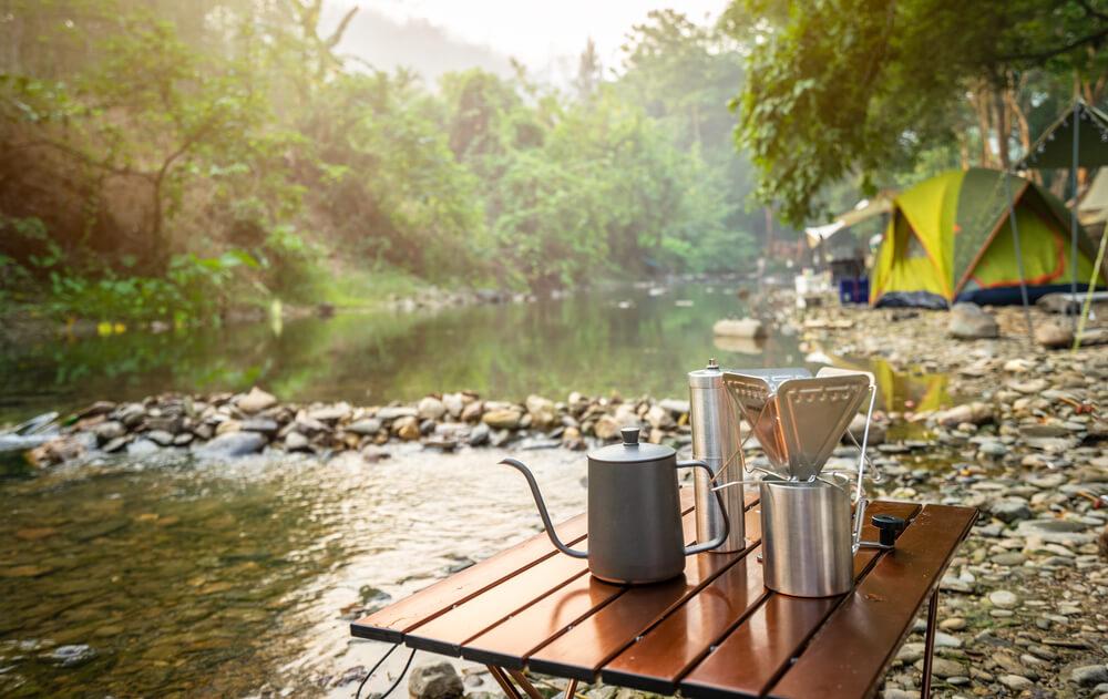 キャンプ時のコーヒーセット