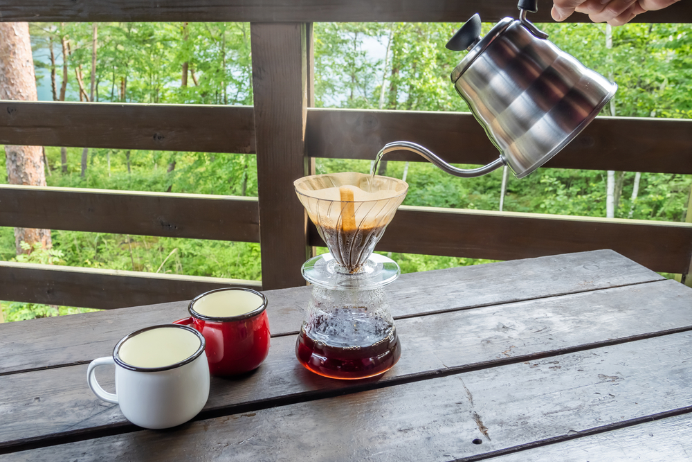 ドリッパーを使用して作るコーヒー
