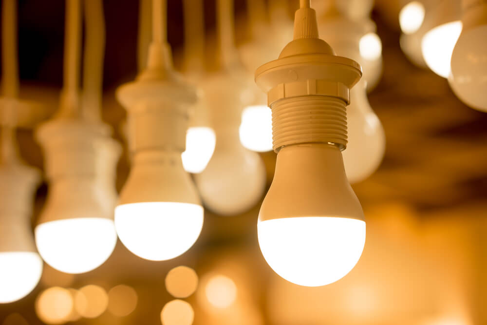 たくさんのLEDライトの電球