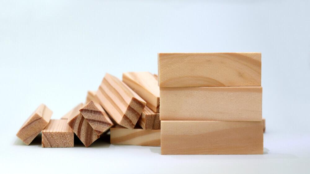 木材のブロック