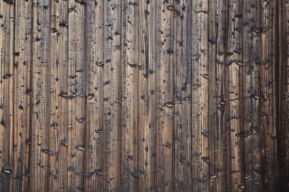 焼き杉の木材
